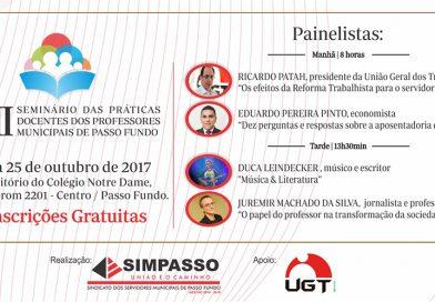 Simpasso realiza Seminário das Práticas Docentes dos Professores Municipais