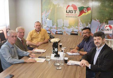 Hermes Zaneti visita UGT-RS como pré-candidato ao Piratini