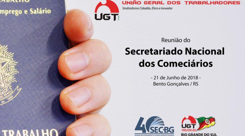 Comerciários da UGT se reúnem em Bento Gonçalves