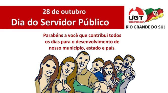 UGT/RS SAÚDA O DIA DO SERVIDOR PÚBLICO