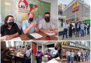 Presidente da UGT vai a Porto Alegre, reúne sindicalistas e participa de ato no McDonald's